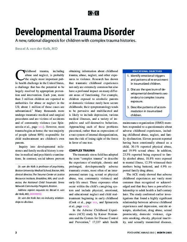 Developmental Trauma